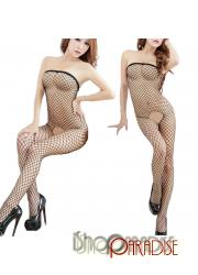 Black Ladies Womens Babydoll Open Crotch Bodystocking Sexy Lingerie
