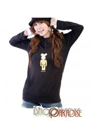 Black NEW Japan ladies Womens Cute Hoody Bear Hoodie Pullover Top