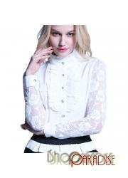 White NEW Top Womens Summer Vintage Elegant Career Clubbing Blouse