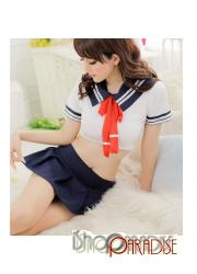 Sexy Babydoll Lingerie Set Costume Cosplay Fancy Sailor Dress