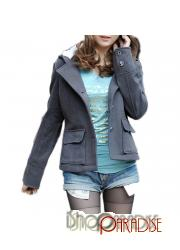 Grey Womens Charming Bow Ladies Japan Lovely Trendy Cute Jacket