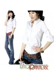 NEW Formal Ladies Business Work Top Smart Blouse Collar Shirt