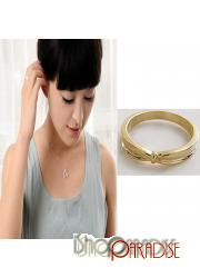Gold Design Love Rings Little Ladies Jewelry Bow Ring Finger Band