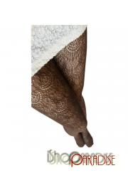 Brown NEW Sexy Japan Fashion Crochet Pattern Lace Pantyhose Tights