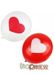 Random Supply Wedding Valentines Party Heart Print Balloons Bulk 12 inch
