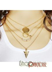 Womens long Fashion Jewellery golden Ladies celebrity Necklace