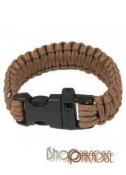 Brown Hiking Adventure Paracord Climbing Camping Mens Survival Bracelet
