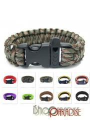 Grey Camouflage Black and Orange Unisex Sport Paracord Rope Gear Kit Tent Mens Survival Bracelet