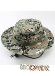 Army Camouflage Womens Wide Brim Bush Army Jungle Cruise Boonie Ripstop Hat