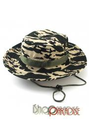 Beige Camouflage Bush Wide Brim Sailing Ripstop Camping Cap Hunting Hat