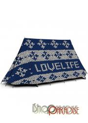 Love Life beach graphic print double layer creative shelter tunnel Tent
