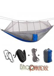 Grey and Blue portable Outdoor activities hanging furniture back yard Hammock