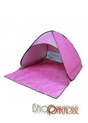 UV Pink single layer hiking Pop up automatic outdoor folding Tent