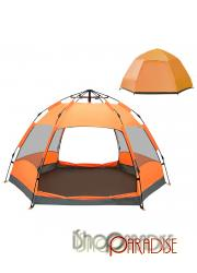 Orange dome skin family shelter picnic travel large Double Layer big Tent