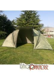 Green tunnel 2 rooms easy set up waterproof outdoor adventure Tent