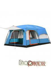 Blue Family festival 2 rooms large wind tunnel vacation Camping Tent