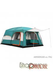 Green 6-8 persons High quality 2 sitting rooms large waterproof Tent