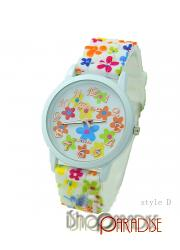 StyleD Students Analog Vintage Girls Floral Wristwatches Silicone Watch