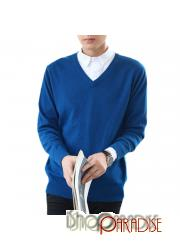 indie Blue Pullover Cashmere high quality apparel Mens Work Jumper
