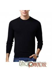 Black Winter Comfy Pullover NEW Work Mens Cashmere Sweater Wool Jumper