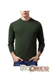 Green Crew Neck Work NEW Unisex Warm Mens Cashmere Sweater Wool Jumper