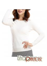 White Thin Casual Warm Unisex Womens Crew Neck Cashmere Sweater Wool Top