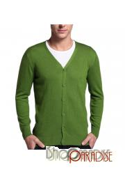 Green office v neck sweater winter long sleeve jumper Cashmere Cardigan