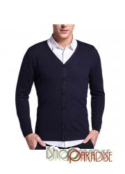 Navy v neck casual button formal soft unisex comfy Cashmere Cardigan