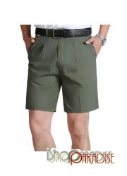Dark Green Casual Plain Summer Thigh Length Work Trousers Combat Cargo Shorts