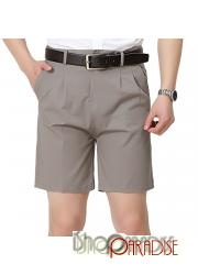 Grey Boys Zip Pants Trousers Chinos 100% Cotton Work Cargo Shorts