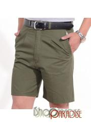 Olive Trousers 100% Cotton Boys Summer Chinos Pants Unisex Cargo Shorts