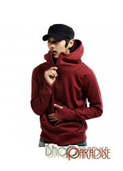 Red Maroon Top Unisex NEW Casual Womens Zip Hoodie Jacket Sweater Sz XS-L