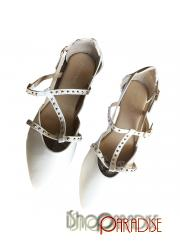 formal Womens strappy ladies stylish flats studded elegant Sandals