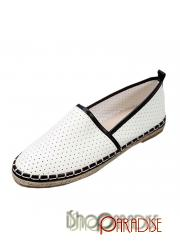 faux leather comfy shoes ladies soft womens White espadrilles