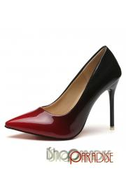 Red pointed toe Womens elegant vintage party patent bridesmaid Shoes