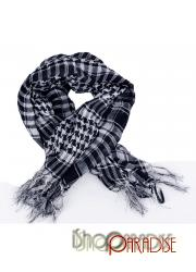 Grey Lovely 80s Chic Vintage Japan Classic Check Print Unisex Scarf
