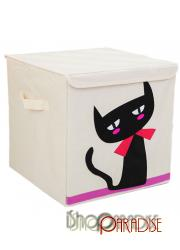 large Cat folding bedroom canvas home decor toys cubic tidy Box