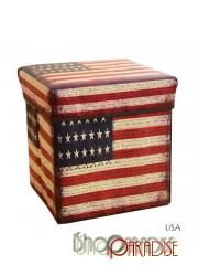USA ottoman bedroom Seat cloth collapsible large toys Box Chair