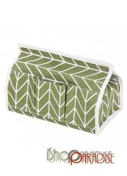 Green coated car washable office holder home storage bag Tissue Case