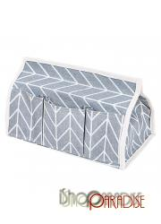 Grey dining decor cover car designer retro box foldable Tissue Case